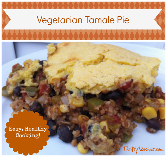 Vegetarian Tamale Pie Recipe with Bulgur Wheat