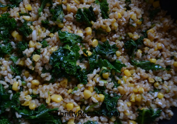 kale corn rice