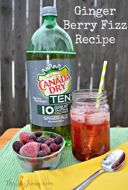 Ginger Berry Fizz Drink Recipe