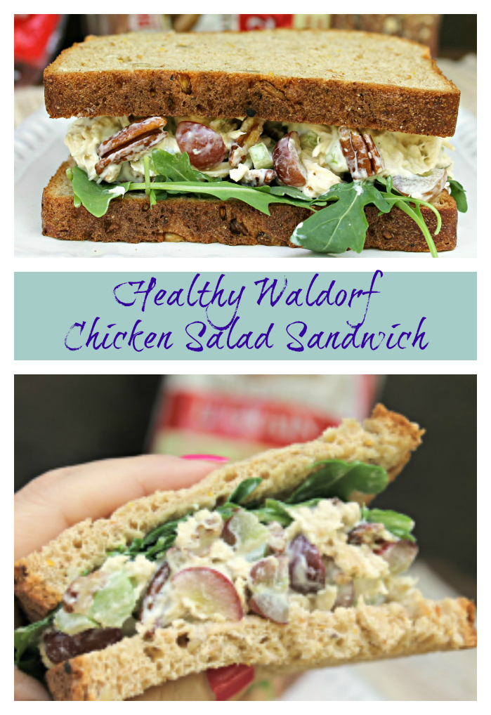 Healthy Waldorf Chicken Salad Sandwich Recipe