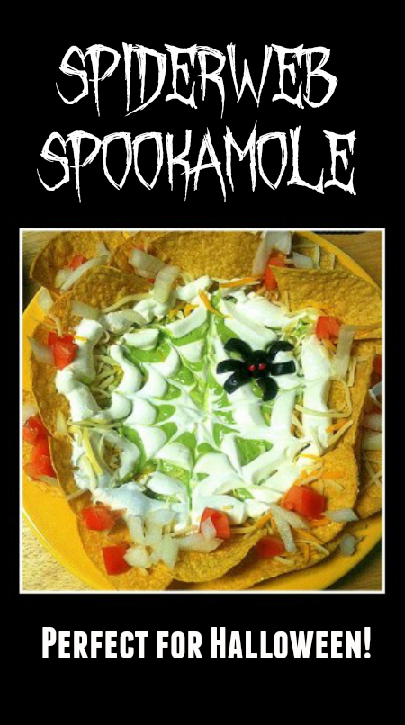 Spiderweb Spookamole Recipe - A Fun Halloween Appetizer with Guacamole!