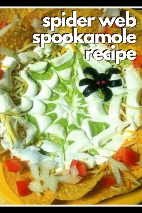 spider web spookamole recipe