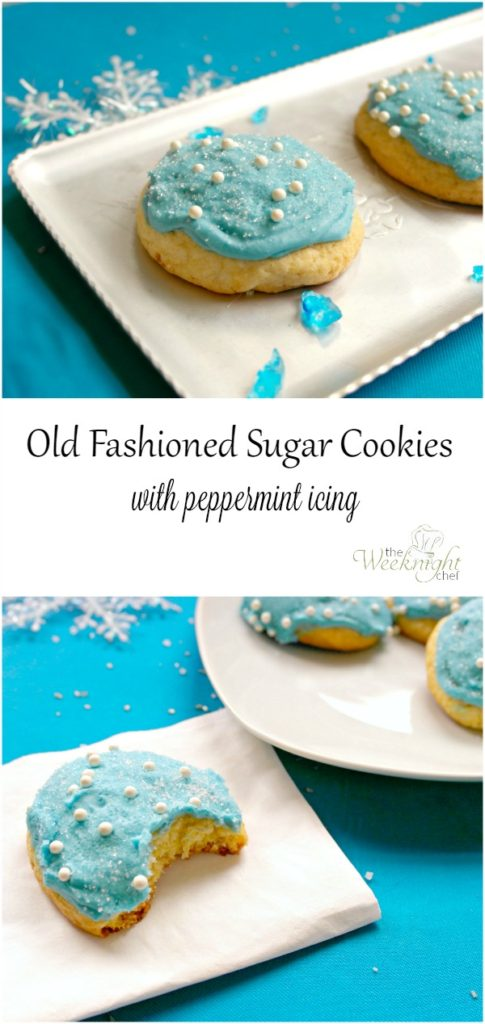 Old Fashioned Sugar Cookies with Peppermint Icing Recipe