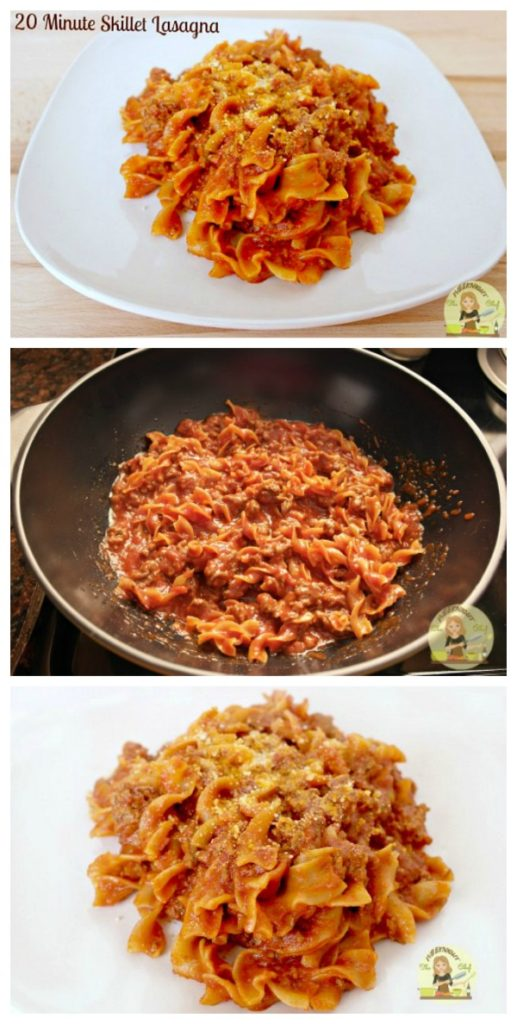 20 Minute Skillet Lasagna