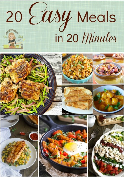 20 Meals That Can Be Made In 20 Minutes