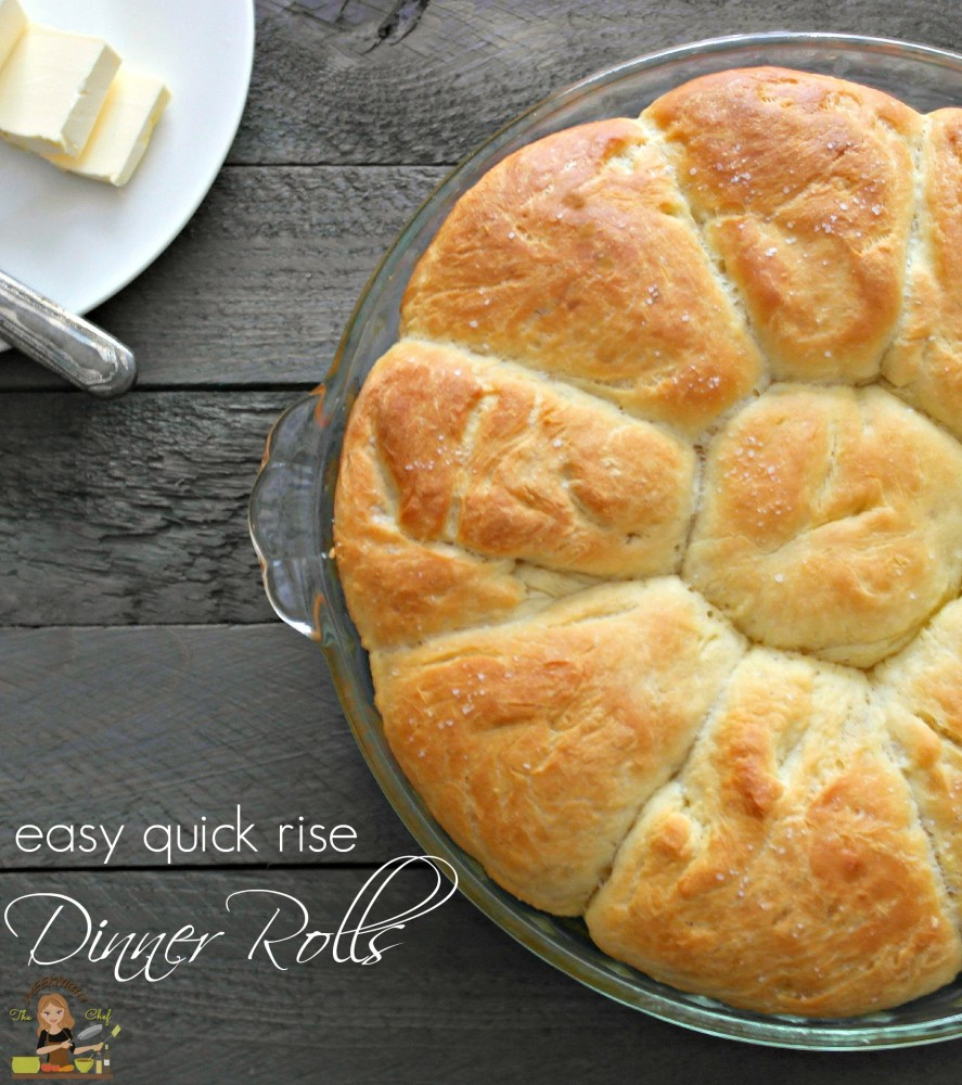 Easy Quick Rise Dinner Rolls in One Hour