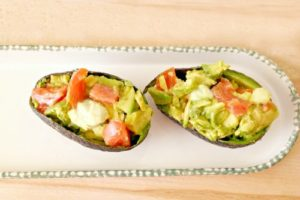 chicken tomato stuffed avocado