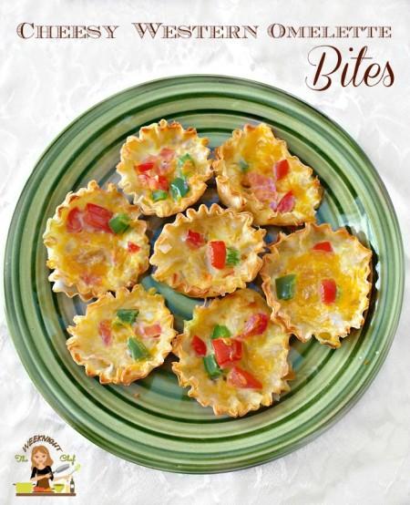 Fifteen Minute Cheesy Western Omelette Bites