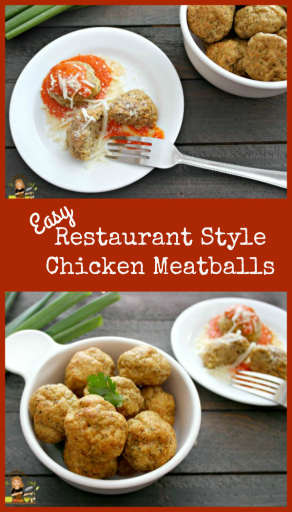 EASY RESTAURANT STYLE ITALIAN CHICKEN MEATBALLS