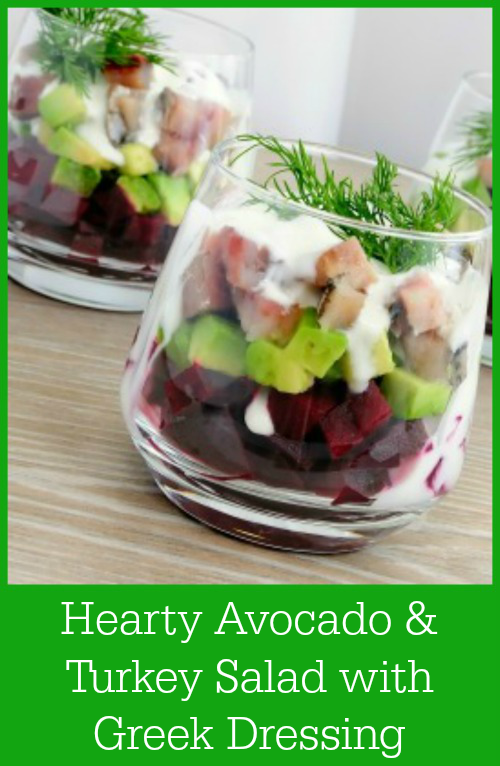 Hearty Avocado & Turkey Salad with Greek Dressing Recipe