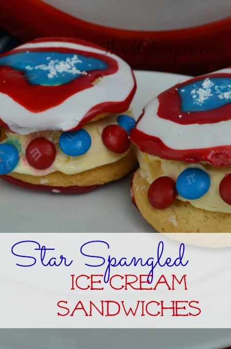 Star Spangled Ice Cream Sandwiches