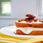 Maple Glazed Pound Cake & Candied Bacon Pecans Recipe
