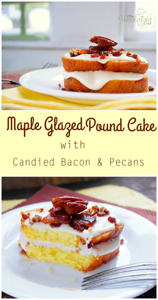 maple pound cake candied bacon pecans