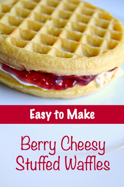 Berry Cheesy Stuffed Waffles Recipe